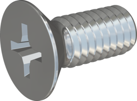 Metric Machine Screw, Screw STM33 3.5x8 - H2, steel 8.8, zinc-plated