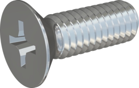 Metric Machine Screw, Screw STM33 3.5x10 - H2, steel 8.8, zinc-plated