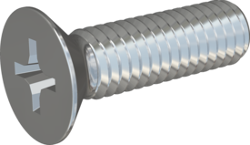 Metric Machine Screw, Screw STM33 3.5x12 - H2, steel 8.8, zinc-plated