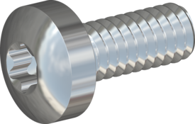 Metric Machine Screw, Screw STM39 2x5 - T6, steel 8.8, zinc-plated