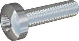 Metric Machine Screw, Screw STM39 4x16 - T20, steel 8.8, zinc-plated
