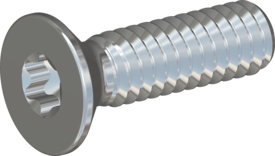 STM410200070S, Screw STM41 2x7 - T6, steel 8.8, zinc-plated, ISO14581