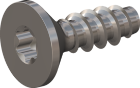 Screw for Plastic, Screw STS-plus KN6041 1.6x5 - T5, stainless-steel, A2 - 1.4567, Bright-pickled and passivated